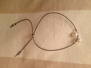 Bracciale con perle. Un filo. #B.10