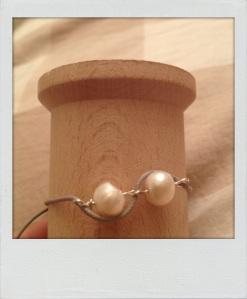 Bracciale color corda con perle. #B.5