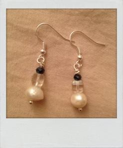 Orecchini perle. #E.8