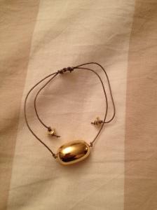 Bracciale corda e oro. #B.4