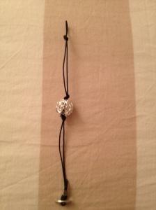 Bracelet. Blue and sterling silver.